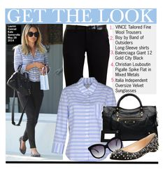 """""""Get the Look:Lauren Conrad"""" by kusja ❤ liked on Polyvore featuring Lauren Conrad, Vince, Balenciaga, GetTheLook, celebstyle and laurenconrad"""