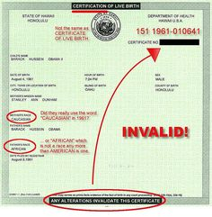 This is a copy of Barack H. Obama's Certification of Live Birth that he released through his web-site. It is clear to any person with reasonable intelligence that there are many glaring problems with this document. Furthermore, any educated person, who is willing to do a certain amount of research will soon realize that a Certification of Live Birth is not quite the same as a Certificate of Live Birth. The former is a short-form for the latter. The latter includes much more information such…