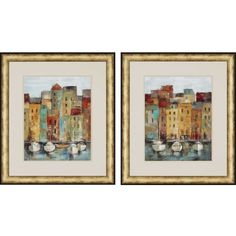 Basilica at the Vatican by Vassileva 2 Piece Framed Painting Print Set