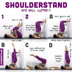 """813 Me gusta, 8 comentarios - Jib Aksorndee (@yogawithjib) en Instagram: """"#howtoyogawithjib  Here is an approach to #shoulderstand or #salambasarvangasana using the wall…"""""""