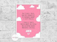 Plakat z modlitwą.   #plakat #prezent #na #Ścianę #grafika #obrazek #dla #dziecka #pokój #pamiątka #handmade #poster #baby #pokojdziecka #memorabli #babyroom #plakatydladzieci #modlitwa #anielebozy
