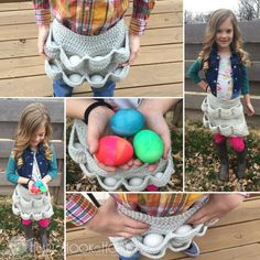 The CHILD SIZE of the Egg-cellent Apron - FREE crochet pattern