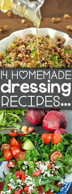 14 Homemade Dressing Recipes to Shake Up Your Salad Game! - pin these for salad weather!