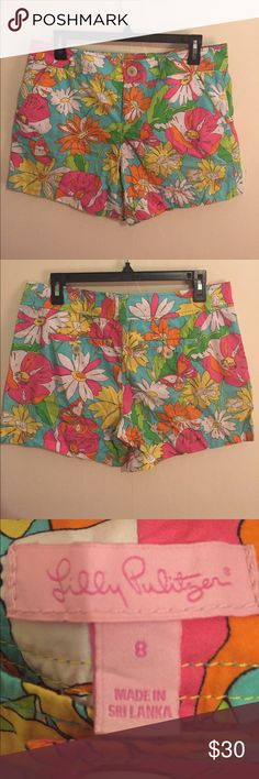 """Lily Pulitzer Paint by Numbers Callahan Shorts Worn once. 5"""" inseam. Pattern no longer found in stores! Lilly Pulitzer Shorts"""