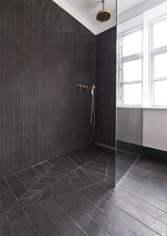 open concept rain shower. (bathroom, tiles, interior design, renovation)