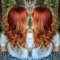 Red copper blonde Balayage