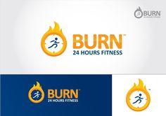 Burn 24 Hour Fitness Logo Design by Paul.Phoenix