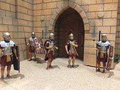 Diorama de Jerusalén  Legiones Romanas  romanos de 11 cm  maqueta de legiones romanas Roman Soldiers, Ancient Rome, Christmas Projects, Cable, Ideas, Roman Legion, Romans, Nativity Scenes, Castles