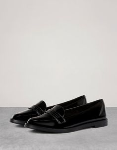 Patent loafers - View All - Bershka United Kingdom · Womens FlatsShoes ...