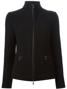 Shop Giorgio Armani zipped knit jacket in  from the world's best independent boutiques at farfetch.com. Shop 300 boutiques at one address.