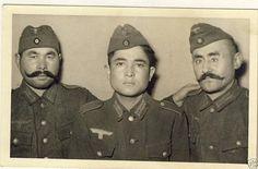 Turkestan (Muslim) Volunteers in German Army WWII. Luftwaffe, World History, World War Ii, Military Units, The Third Reich, Red Army, Korean War, German Army, Vietnam War
