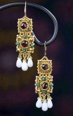 New Sp Hook Geological Jewelry Unakite Earrings Silver Plate Pink Stone Green