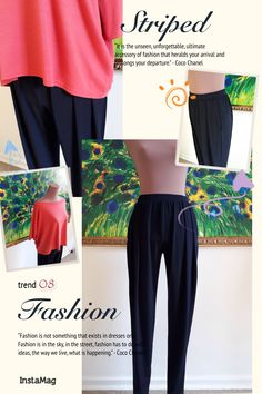 Pleated pants with pockets, box top