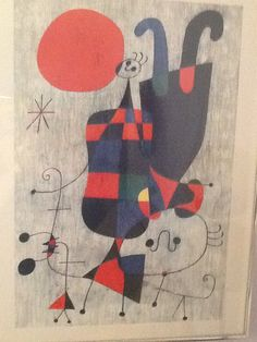Miro print from Bonita thrift at least thirty years ago