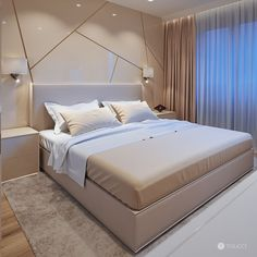 Discover recipes, home ideas, style inspiration and other ideas to try. Modern Luxury Bedroom, Luxury Bedroom Design, Master Bedroom Interior, Bedroom Bed Design, Home Room Design, Bedroom Furniture Design, Stylish Bedroom, Luxurious Bedrooms, Home Bedroom