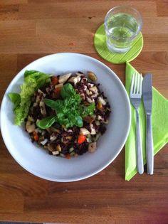 Zwarte rijst salade. Wist je dat koude rijst een prebiotica is?