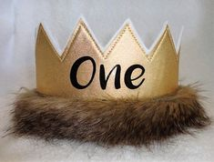 Wild ONE Birthday Crown, Birthday Crown, Kids Wild Thing Birthday Crown Wild One Birthday Party, Birthday Party Hats, Baby First Birthday, First Birthday Parties, First Birthdays, Birthday Ideas, Birthday Crowns, Birthday Board, 4th Birthday