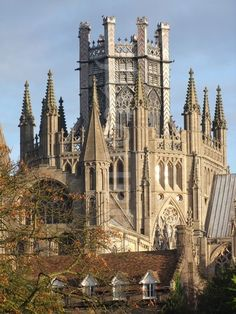 """Ship of the Fens,"" Ely Cathedral, The Octagon Tower, Cambridgeshire, England ~ 11th century Norman stone architecture origins with Gothic additions"