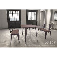 Zuo Elio Double Bench Rustic Wood, 108149 – Culture&Cotton