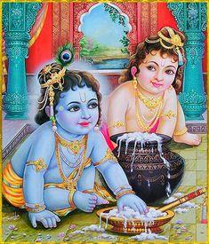krishna - Poster colour on Paper Krishna Lila, Little Krishna, Jai Shree Krishna, Radha Krishna Love, Krishna Radha, Lord Krishna, Shiva, Radha Krishna Pictures, Krishna Images