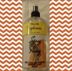 JUST CALL Me PUMPKIN Spray Away Disinfectant by YellowEpiphanies