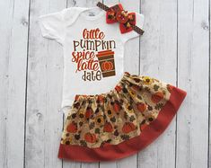 Cutest Pumpkin in the Patch Outfit for Baby Girl - first thanksgiving, holidays, holiday outfit, tur - Products - Baby Baby Pumpkin Outfit, Pumpkin Patch Outfit, Baby In Pumpkin, Cute Pumpkin, Fabric Tutu, First Thanksgiving, One Piece Outfit, First Birthday Outfits, Holiday Outfits