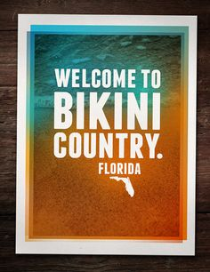 Welcome to Florida Sign, Bikini Country! Welcome to Florida Lifestyle with Palm Trees and sun! Florida Girl, Florida Living, State Of Florida, Florida Home, Florida Keys, South Florida, Central Florida, Florida Beaches, Florida Sunshine