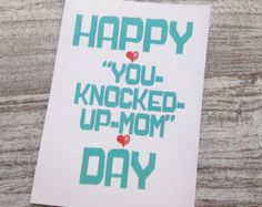 Put a smile on Dad's face with one of our funny Father's Day cards. Maybe it will make him forget all the crap you put him through--or not! Checkout our unique cards at Oh My Word Cards on Etsy.