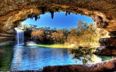 Travel to Hamilton Pool Preserve in Texas ... not far from my daughter's house.