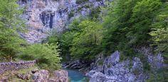 Río Bellós en el puente de Sangons