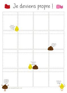 Imprime gratuitement ton tableau des pipis et des cacas pour aider ton enfant à devenir propre.