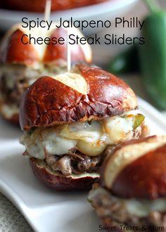 Oh boy...Spicy Jalapeño Philly Cheese Steak Sliders...