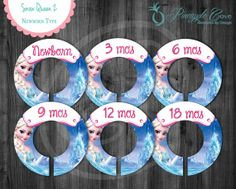 Snow Queen Baby Girl Closet Dividers to Organize Clothing for Baby Room | Frozen Ice Castle