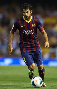 Cesc Fabregas of FC Barcelona