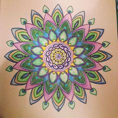 Peacock inspired mandala. #creativecoloring #adultcoloring #adultcoloringbook #colormecalm #mandala