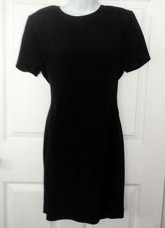 SOLD Ann Taylor  Classic Little Black Dress  sz 6  Very Well Made  100% Silk