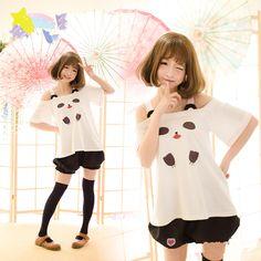 """Color:white t-shirt.black shorts. T-shir size:S.M.L. Size S: Length:60cm/23.40"""".Bust:88cm/34.32"""".Sleeve length:20cm/7.80"""". Size M: Length:62cm/24.18"""".Bust:94cm/36.66"""".Sleeve length:21cm/8.19"""". Size L:"""