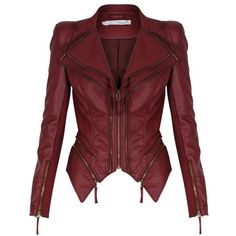 Leather Motorcycle Casual Solid Coats & Jackets for Women Mode Outfits, Fashion Outfits, Womens Fashion, Mode Rock, Forever Unique, Cooler Look, Mein Style, Winter Mode, Jackets For Women