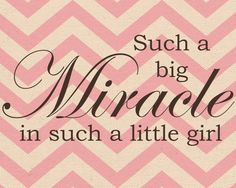 8x10 big miracle little girl Nursery Print 5 by aokaydesigns