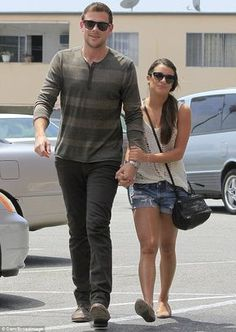 Getting their Griddle on: Glee stars Cory Montieth, 31, and Lea Michele head into the popular Griddle Cafe in West Hollywood for lunch on Tuesday
