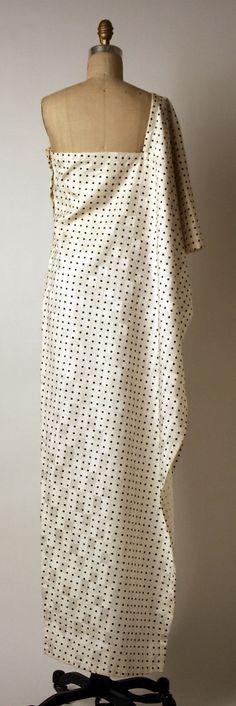 Evening dress Madame Grès (Alix Barton)  (French, Paris 1903–1993 Var region)  Date: 1982 Culture: French Medium: silk. Back