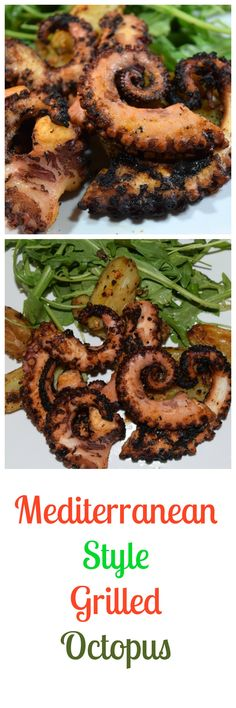 Mediterranean Style Grilled Octopus, A little charred & crispy on the outside, tender & moist inside, basically just dammed delicious! Serve this as an entrée, starter or appetizer. Your guests will be glad you did.