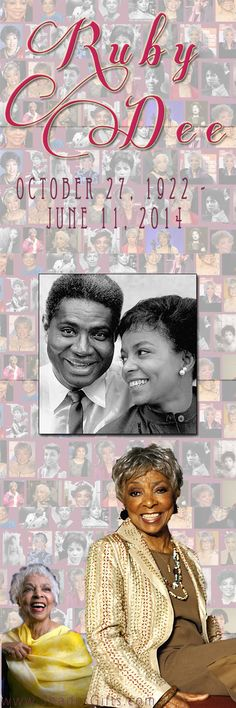 Thank you Ruby Dee! Stage and screen actress, civil rights activist. We are truly grateful for her legacy. #RubyDee