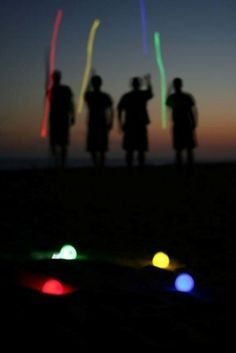 Glow in the dark (LED) Petanque or Bocce Ball set - for evenings on the beach OR in the snow these are GREAT and fun photo ops abound!
