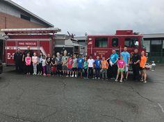 radKids touring the Burlington Fire truck
