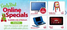 Walmart Early Bird Online Specials are LIVE Online Now!