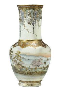 A large and fine Satsuma vase. By Yabu Meizan, Meiji era (late 19th century)