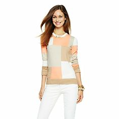 Love this Intarsia Patchwork Sweater for $88 on C. Wonder