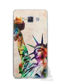 Capa Capinha Samsung A7 2015 Estátua da Liberdade Colorida - SmartCases - Acessórios para celulares e tablets :)