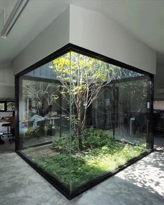 combined black metal with for its in bangkok, which hides this surprising inner courtyard that brings natural ventilation inside the space. Architecture Art Design, Green Architecture, Architecture Today, Chinese Architecture, Futuristic Architecture, Design Exterior, Interior And Exterior, Dream Home Design, Modern House Design